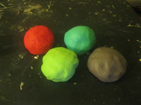 balls of colored play dough