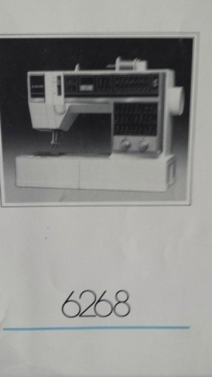 photo of sewing machine on manual cover