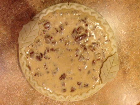 Southern Pecan Pie - assembling the crust