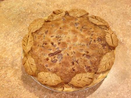 Southern Pecan Pie - baked pie