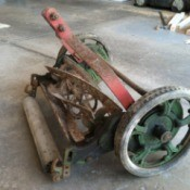closeup of mower