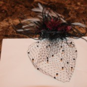 finished fascinator ready to wear