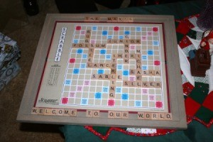 Scrabble Art Project - finished wall art project