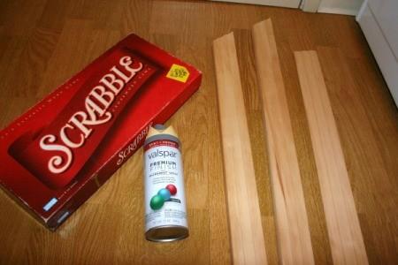 Scrabble Art Project - supplies