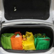 Groceries in Car Trunk