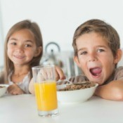 Kids at Breakfast