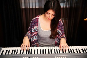 Girl Playing Music Keyboard