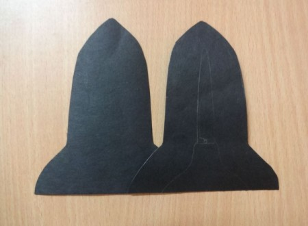 two outside pieces of black paper