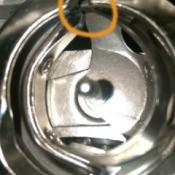 closeup of bobbin