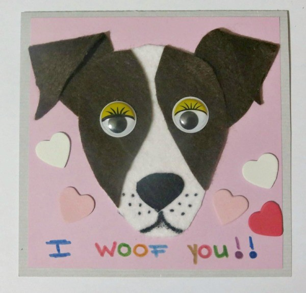 Making An I Woof You Valentine S Day Card Thriftyfun