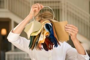 Woman Looking at Free Fabric Samples
