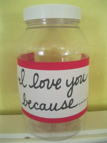 """I Love You Because..."" Jar"