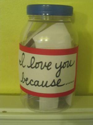 """I Love You Because..."" Jar"