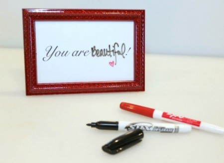 pens and frame