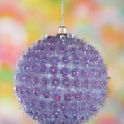 nubby purple Christmas ornament