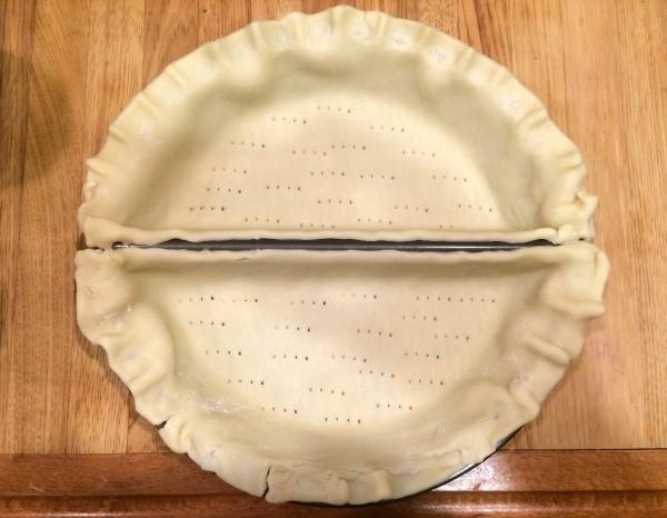 crust in pan & Celebrating a Half Birthday | ThriftyFun