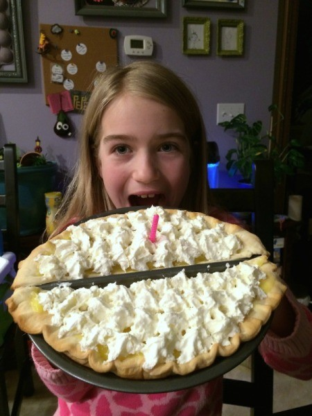 birthday girl with pie 1