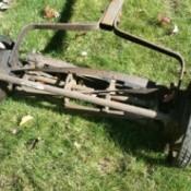 closeup of mower