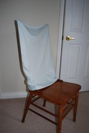Pillowcase as Chair Cover