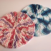 two completed dishcloths