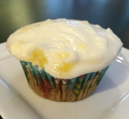 frosting on cupcake