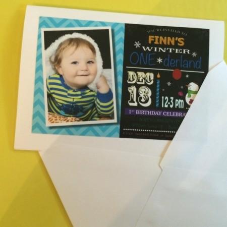 Photo Birthday Invitation - card and envelope