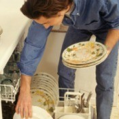 Man Loading a Dishwasher