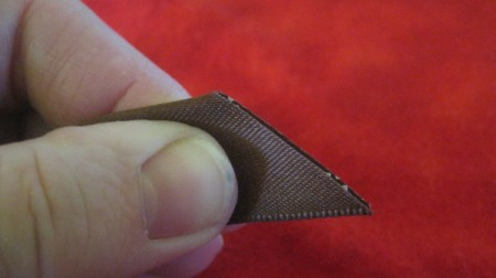 diagonal cut on folded ribbon