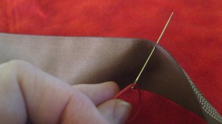 insert threaded needle from inside