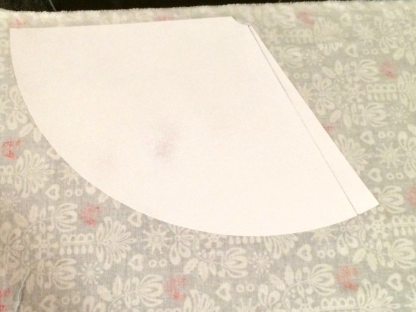 Trim Excess Fabric Off Leaving Enough Around The Edges Of Template To Wrap Inside Hat