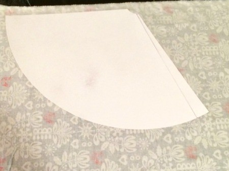 glue template to fabric