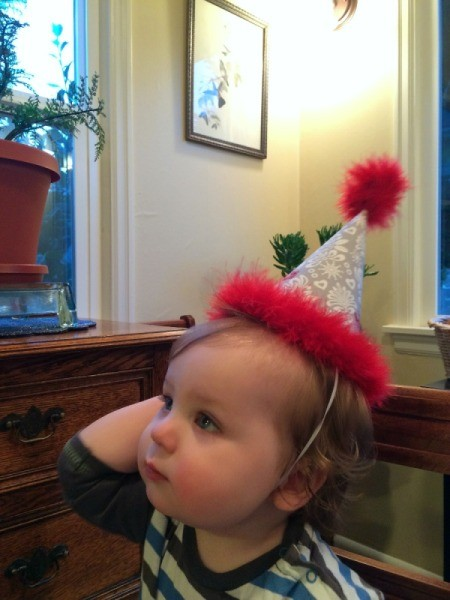 baby wearing hat