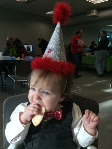 baby at party