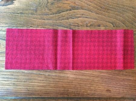 bow fabric piece