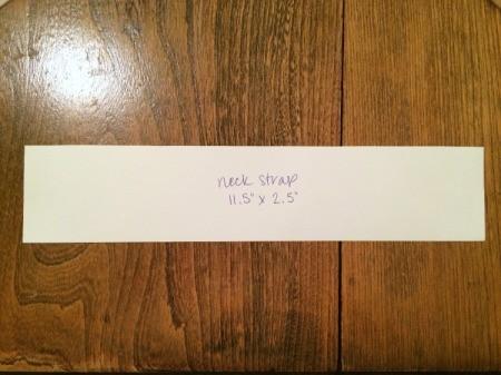 neck strap template