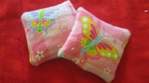 two finished hand warmers