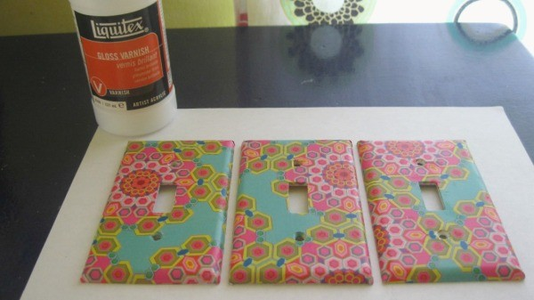 decoupaged light switch plate three finished covers