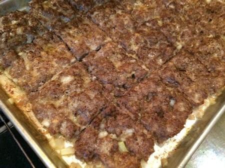 Easy Cookie Sheet Sliders - broil to brown patties