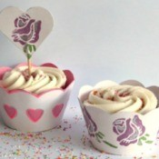 one of each decorated cupcake wrapper