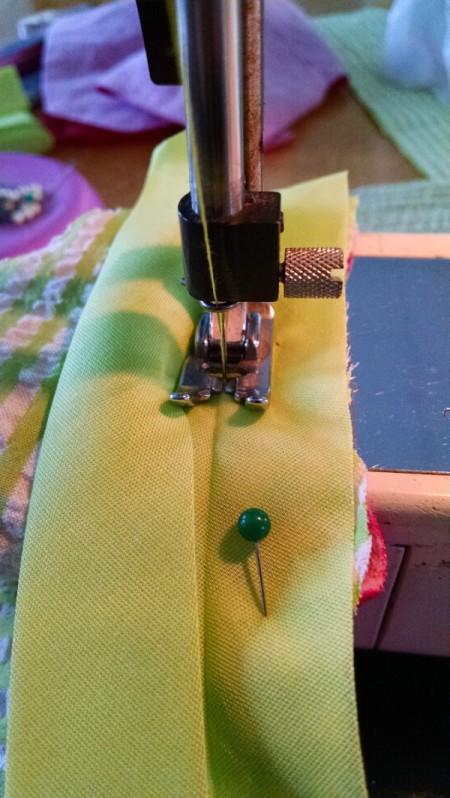 stitch in tape fold