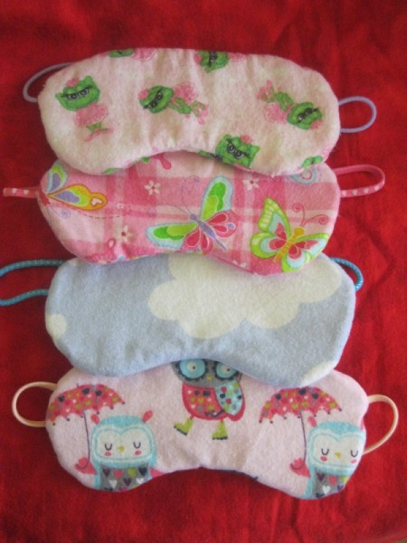 four masks of different fabric
