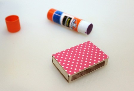 covering matches box