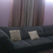 couch and curtains