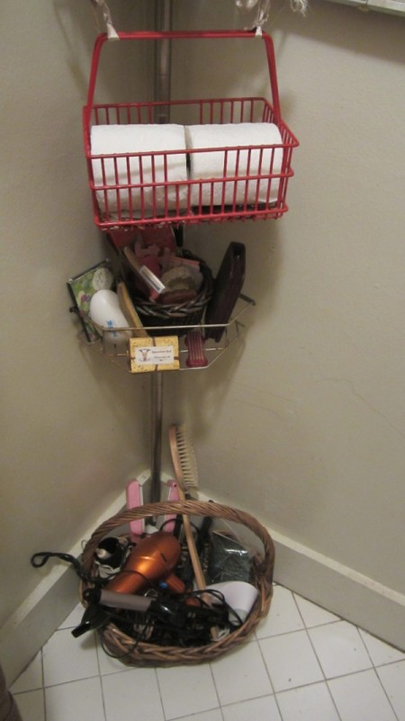 Use Baskets for Storing Hair Appliances