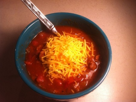Superbowl Chili with coffee, beer and cocoa
