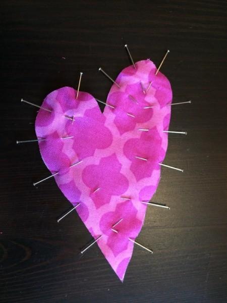 pin hearts