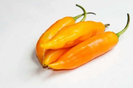 A yellow pepper for cooking.