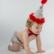 baby at photo shoot