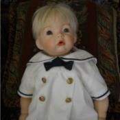 wearing sailor suit