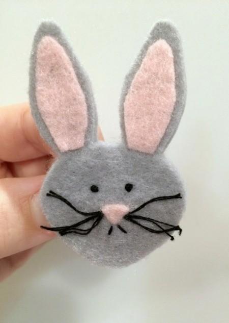 Felt Easter Bunny Pin
